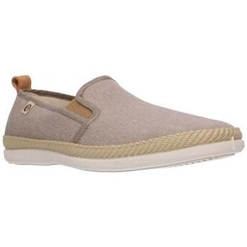 Schuhe Herren Leinen-Pantoletten mit gefloch Roal 512 Hombre Marron marron