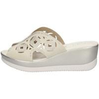 Schuhe Damen Pantoffel Valleverde 32150 WEISS