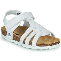 Schuhe Mädchen Sandalen / Sandaletten Citrouille et Compagnie JANISOL Weiss