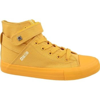 Schuhe Damen Sneaker High Big Star FF274581 Gelb