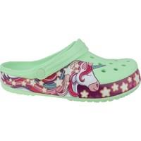 Schuhe Kinder Zehensandalen Crocs Fun Lab Unicorn Band Clog Grün, Rosa