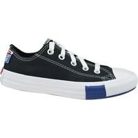 Schuhe Kinder Sneaker Low Converse Chuck Taylor All Star JR Weiß, Schwarz