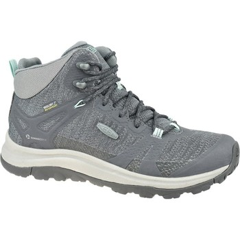 Schuhe Damen Wanderschuhe Keen W Terradora II Mid WP Grau