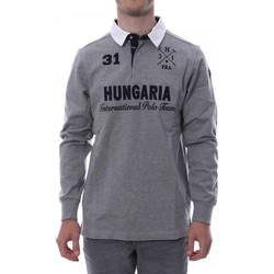 Kleidung Herren Langärmelige Polohemden Hungaria H-16TLMOLORE Grau