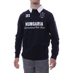 Kleidung Herren Langärmelige Polohemden Hungaria H-16TLMOLORE Blau