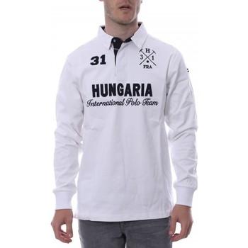 Kleidung Herren Langärmelige Polohemden Hungaria H-16TLMOLORE Weiss