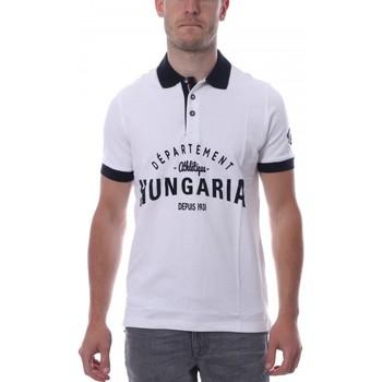Kleidung Herren Polohemden Hungaria H-16TLMODOLE Weiss