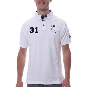Kleidung Herren Polohemden Hungaria H-16TLMODORE Weiss
