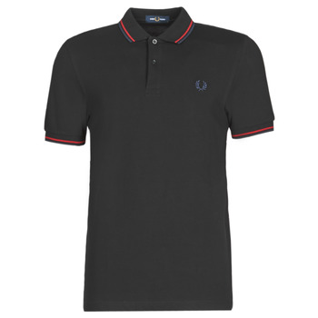 Kleidung Herren Polohemden Fred Perry TWIN TIPPED FRED PERRY SHIRT Schwarz