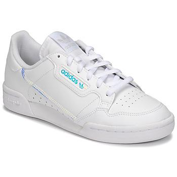 Schuhe Kinder Sneaker Low adidas Originals CONTINENTAL 80 J Weiss