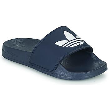 Schuhe Kinder Pantoletten adidas Originals ADILETTE LITE J Marine / Weiss