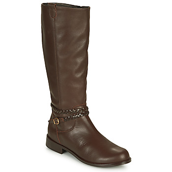 Schuhe Damen Klassische Stiefel So Size AURELIO Braun