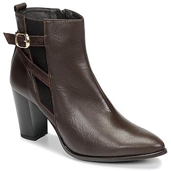 Schuhe Damen Low Boots So Size AURELIO Braun