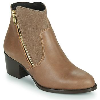 Schuhe Damen Low Boots So Size FELICIO Camel