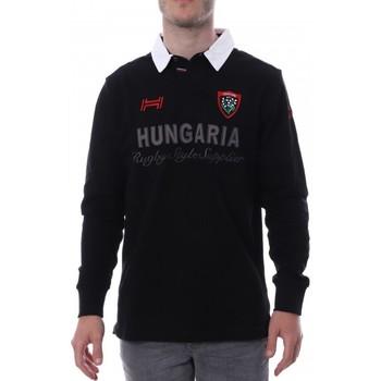 Kleidung Herren Langärmelige Polohemden Hungaria H-16TLMOLORET Schwarz