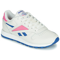Schuhe Sneaker Low Reebok Classic CL LEATHER MARK Weiss / Rose