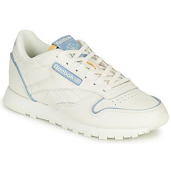 Schuhe Sneaker Low Reebok Classic CL LTHR Weiss