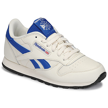 Schuhe Kinder Sneaker Low Reebok Classic CLASSIC LEATHER Weiss / Blau