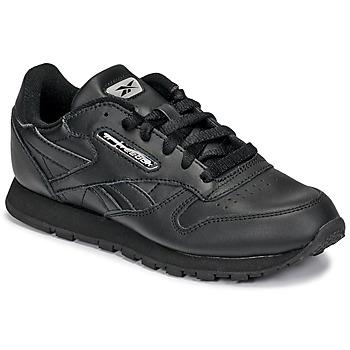 Schuhe Kinder Sneaker Low Reebok Classic CLASSIC LEATHER Schwarz