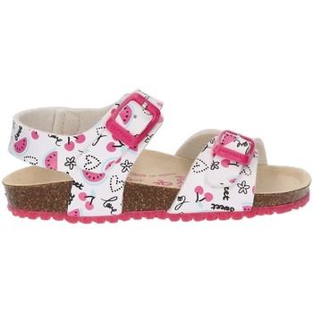 Schuhe Mädchen Sandalen / Sandaletten Garvalin BIO CHERRIES SANDAL WHITE