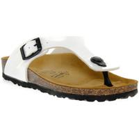 Schuhe Jungen Zehensandalen Gold Star BIANCO VERNICE Bianco