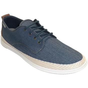 Schuhe Herren Hausschuhe Muro Sneaker aus Hanf-Canvas für Herren Blau