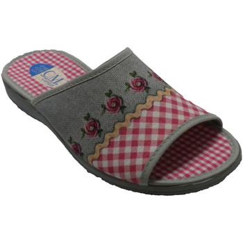 Schuhe Damen Hausschuhe Calzamur Frau offene Zehen und Ferse Flip Flops C Rose
