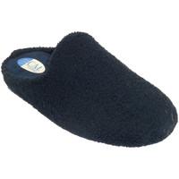 Schuhe Damen Hausschuhe Calzamur Geschlossene Zehen öffnen Frau Handtuch Blau