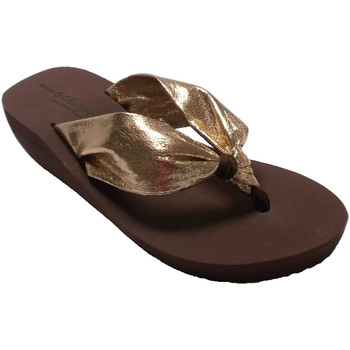 Schuhe Damen Zehensandalen Gioseppo Flip Flops Strand Pool Keil Frau Zehen s Gold