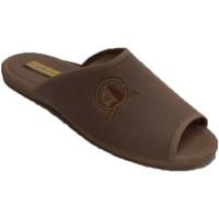 Schuhe Herren Hausschuhe Aguas Nuevas Sommer-Flip-Flops mit offenen Zehen und Beige