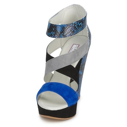 Serafini CARRY Schwarz / / Blau / Schwarz Grau  Schuhe Sandalen / Sandaletten Damen 124,50 b399ed