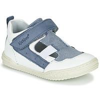 Schuhe Jungen Sandalen / Sandaletten Kickers JASON Weiss / Blau