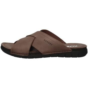 Schuhe Herren Pantoffel Robert 85811-1 BRAUN