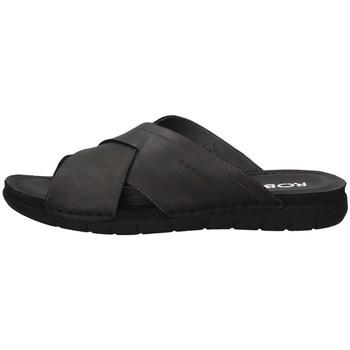 Schuhe Herren Pantoffel Robert 85811-1 SCHWARZ