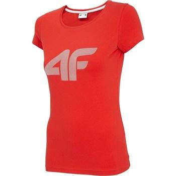 Kleidung Damen T-Shirts 4F TSD005 Rot