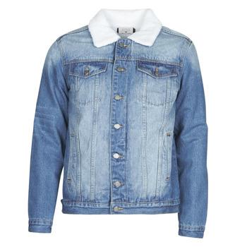 Kleidung Herren Jeansjacken Casual Attitude  Blau