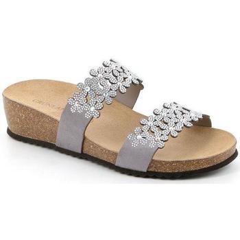 Schuhe Damen Pantoffel Grunland DSG-CB2476 ARGENTO