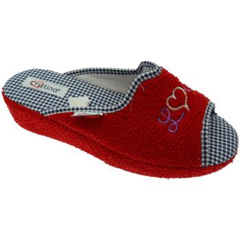 Schuhe Damen Hausschuhe Cristina CRIS24ros rosso