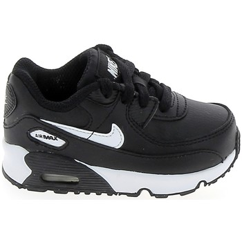 Schuhe Mädchen Sneaker Low Nike Air Max 90 BB Noir Blanc CD6868-010 Schwarz