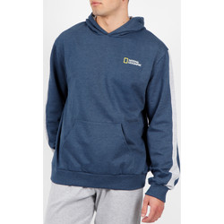 Kleidung Herren Sweatshirts Admas For Men National Geographic blau Admas Kapuzenpulli Blau