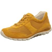 Schuhe Damen Sneaker Low Rollingsoft By Gabor Schnuerschuhe Komfort Schnürhalbschuh extra weit 56-966-30 gelb