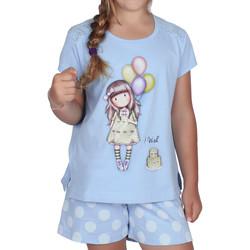 Kleidung Mädchen Pyjamas/ Nachthemden Admas Pyjamashorts T-Shirt I Wish Santoro blue Blau