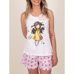 Kleidung Damen Pyjamas/ Nachthemden Admas Pyjamahose Tank Top Frühling Endlich Santoro weisse Weiß