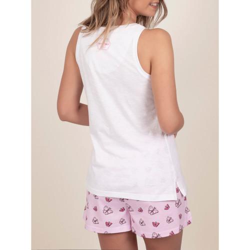 Admas Pyjamahose Tank Top Frühling Endlich Santoro weisse Weiß - Kleidung Pyjamas/ Nachthemden Damen 3497 CRGgY