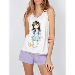 Kleidung Damen Pyjamas/ Nachthemden Admas Pyjama-Shorts Tank-Top Little Duck Santoro elfenbein Gelb