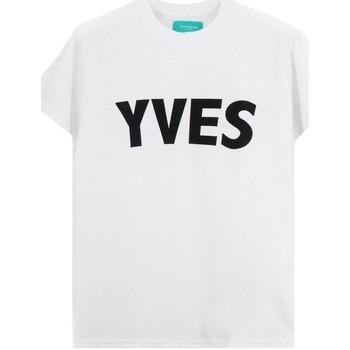 Kleidung Herren T-Shirts Backsideclub | Yves T-Shirt, Weiss | BSC_TH 107 YVES WHT blanc