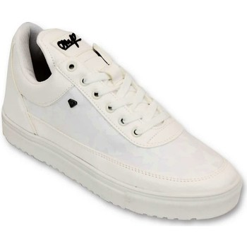 Schuhe Herren Sneaker Low Cash Money Case Armee Voll CMS Weiß