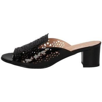 Schuhe Damen Pantoffel Soffice Sogno E20129T SCHWARZ