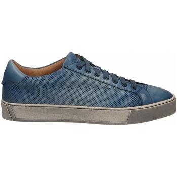 Schuhe Herren Sneaker Low Santoni DERBY 7 OCC. FORGOOSE azzurro