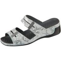 Schuhe Damen Pantoletten / Clogs Vital Pantoletten Tina 0836-162-10 Snake 0836-162-10 weiß